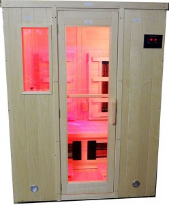 custom far infrared sauna with near infrared